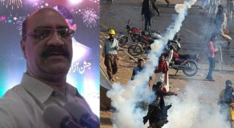 Policeman dies after falling ill from tear gas shelling