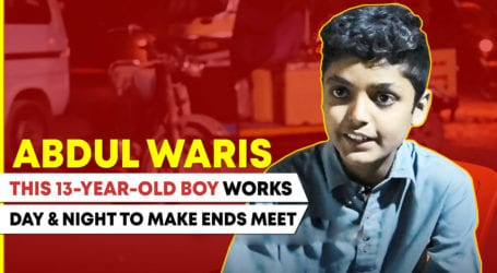 Meet 13-year-old Abdul Waris – the only bread earner of his family