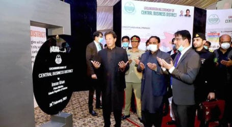 PM lays foundation stone of Central Business District in Lahore