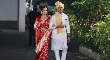 Bollywood actress Dia Mirza ties the knot