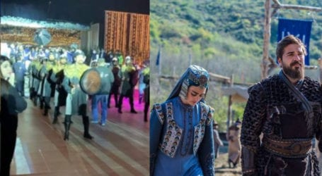 'Ertugrul' theme dance performed at Lahore wedding