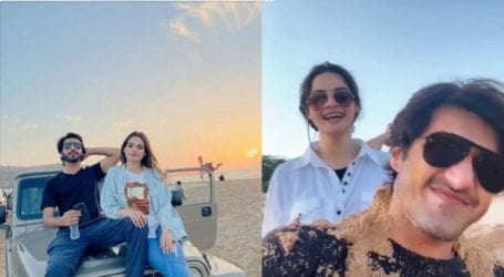 Minal Khan and Mohsin Ikram share an adorable video of fun at the beach