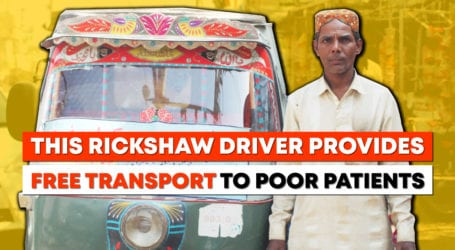 This Rickshaw driver gives free rides to poor patients