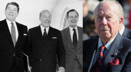 Former US secretary of state George Shultz who helped end Cold War dies
