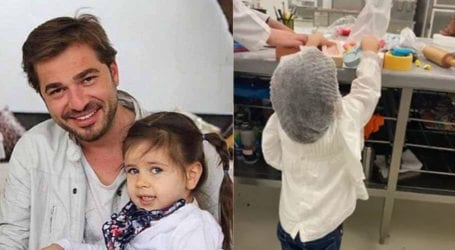 Actor Engin Altan's 2-year-old daughter becomes a chef