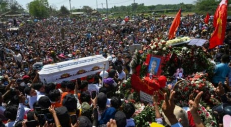 Myanmar forces fire on anti-coup protests