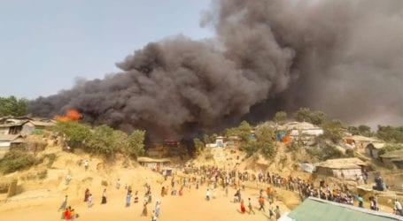 Fire engulfs Rohingya refugee camps in Bangladesh