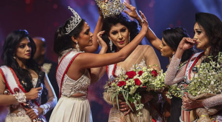 Reigning 'Mrs World' arrested for stripping crown from head of 'Mrs Sri Lanka'