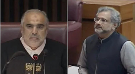 Abbasi asked to apologise for remarks against NA Speaker within 7 days