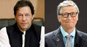 Prime Minister Imran Khan had a telephonic conversation with Bill Gates. Source: FILE