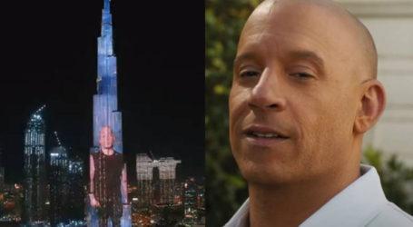 Vin Diesel feels 'blessed and grateful' as F9 promo displays on Burj Khalifa