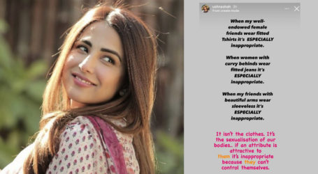 'Its inappropriate because they can't control themselves' says Ushna Shah