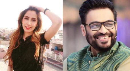 Haniya Khan reaches outside Aamir Liaquat's office, threatens to strip her clothes