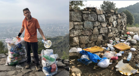 British envoy collects two bags of litter during morning walk in Islamabad