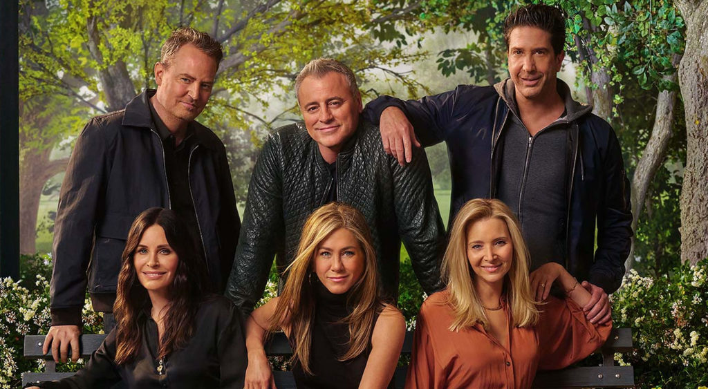 David Schwimmer, Jennifer Aniston, Matt Le Blanc, Matthew Perry, Courteney Cox, and Lisa Kudrow revisit moments from the iconic show Friends.