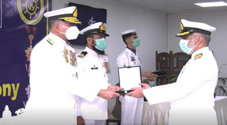 Naval chief confers military awards on officers, soldiers