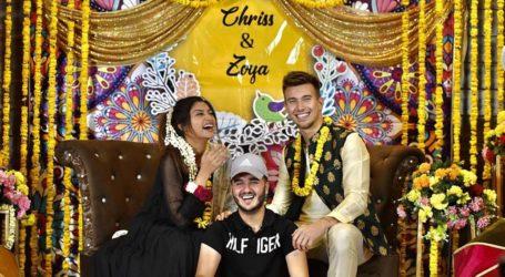 Zoya Nasir and Christian Betzmann attend their surprise dholki