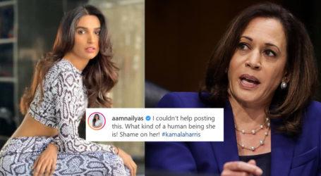 Kamala Harris should be ashamed, says Amna Ilyas over her pro-Israeli statement