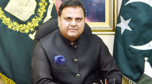 Minister for Information and Broadcasting Fawad Chaudhry. Source: APP/File