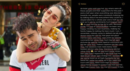 Stayed silent for 1.5 years, now my one post has hurt sentiments? Asim Azhar takes a dig at Hania Aamir