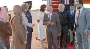 Afghanistan's President Ghani and his delegation landed in Washington DC. Source: Twitter