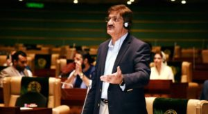 Chief Minister Sindh Murad Ali Shah presenting the budget. Source: CM House/Facebook