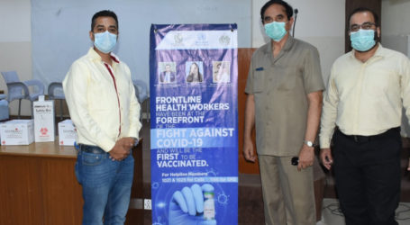 Covid-19 vaccination centre established at Sir Syed University