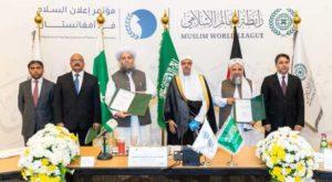 Afghan, Pakistani Islamic scholars sign historic Afghan peace declaration in Makkah