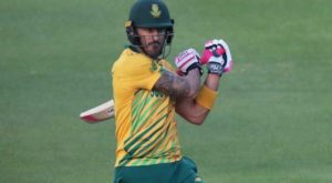 Du Plessis collided with teammate Hasnain while trying to save boundary
