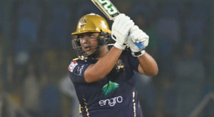Azam Khan, 22, is currently playing for Quetta Gladiators in PSL. Source: Cricket Pakistan/PSL