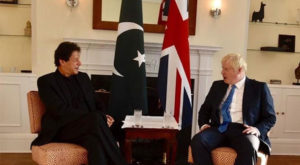 This would have been Imran Khan's first visit to the UK as prime minister. Source: Geo
