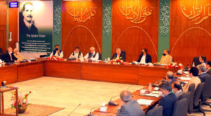 Federal Minister for Finance and Revenue Shaukat Tarin chaired the meeting. Source: PID/APP