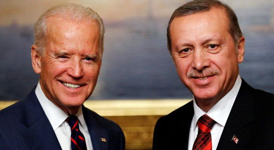 Turkish President Recep Tayyip Erdogan met Joe Biden on the sidelines of the NATO summit in Brussels. Source: Reuters