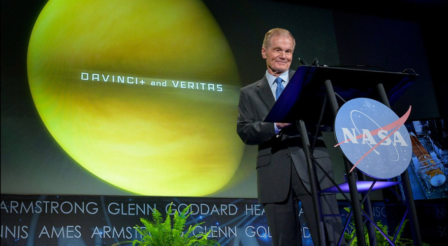 NASA Administrator Sen Bill Nelson announced two new missions to study the planet Venus. Source: NASA/Twitter