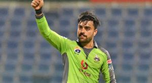Rashid Khan grabbed five wickets for Lahore Qalandars. Source: Twitter