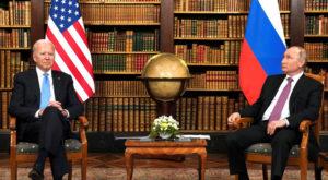 US President Joe Biden and Russia's President Vladimir Putin meet in Geneva, Switzerland. Source: Reuters
