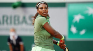 Serena Williams in action during her match against Elena Rybakina at the French Open. Source: Roland Garros