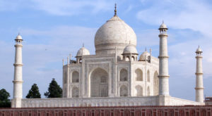 Taj Mahal was built by Mughal emperor Shah Jahan in the northern city of Agra. Source: History.org
