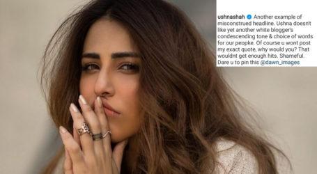 Ushna Shah is fed up of misleading headlines