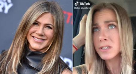 Doppelganger of Jennifer Aniston recreates 'Friends' impression