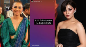 Pakistani celebrities have also expressed disappointment over pictures of celebrities wearing revealing clothes at the Hum Style Awards held on Sunday evening.