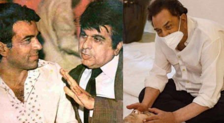 Actor Dharmendra breaks down at Dilip Kumar's funeral