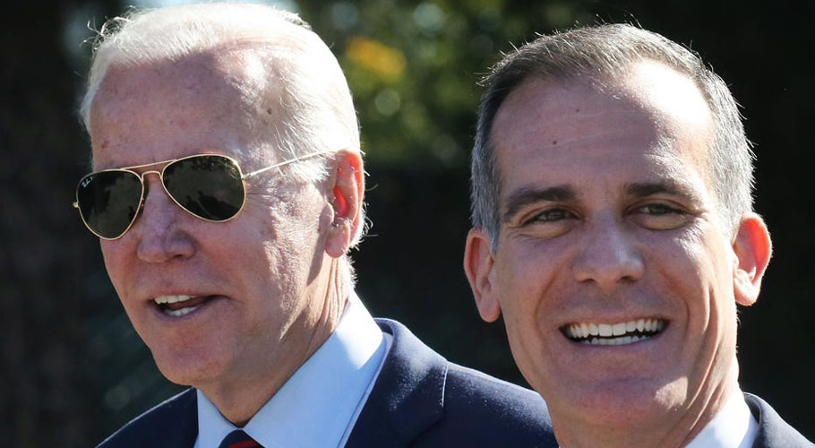 WASHINGTON (Reuters): United States President Joe Biden is planning to announce selecting Los Angeles Mayor Eric Garcetti as his ambassador to India.