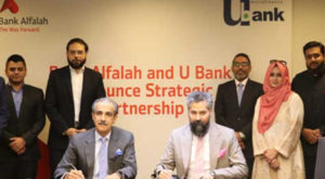 President & CEO of U Microfinance Bank Limited Mr. Kabeer Naqvi and President & CEO of Bank Alfalah Limited, Mr. Atif Bajwa, signed off a strategic partnership to promote financial inclusion in the country.