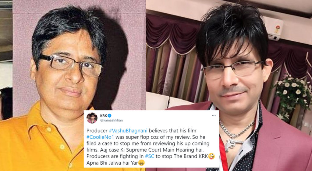 Last month, KRK was slapped with a defamation suit by Salman Khan for making derogatory posts about the actor and his work.