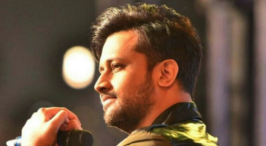 The first poster for singer Atif Aslam's music video 'Rafta Rafta' starring Sajal Aly has been published.