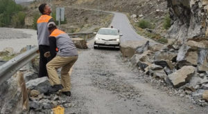 It is to be noted that landslides took place at nine places on Karakoram Highway in Gilgit-Baltistan