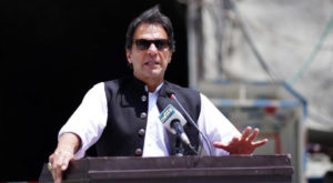 Prime Minister Imran Khan is campaigning for the elections in AJK. Source: FILE.