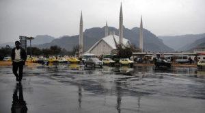 The weather turned pleasant after rain in Gulshan-e-Iqbal, Gulistan-e-Jauhar, Shahra-e-Faisal, PECHS, Korangi, Defence, and Clifton.