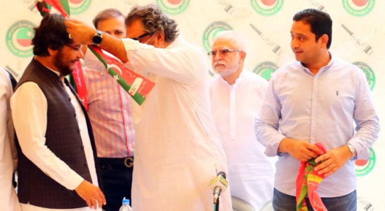 Sharafuddin Memon has joined PTI in Karachi. Source: MM News.